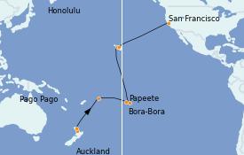 Itinéraire de la croisière Australie 2023 22 jours à bord du Grand Princess