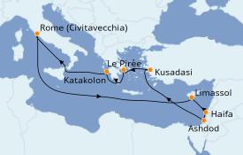 Itinéraire de la croisière Grèce & Adriatique 13 jours à bord du Celebrity Reflection