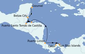 Itinerario de crucero Caribe del Oeste 10 días a bordo del Le Champlain