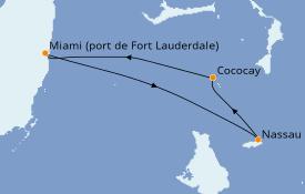 Itinéraire de la croisière Bahamas 5 jours à bord du Navigator of the Seas