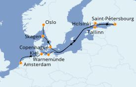 Itinéraire de la croisière Mer Baltique 14 jours à bord du Azamara Journey
