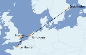 Itinéraire de la croisière Mer Baltique 7 jours à bord du Costa Magica
