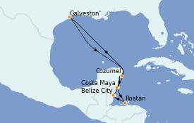 Itinerario de crucero Caribe del Oeste 9 días a bordo del Independence of the Seas