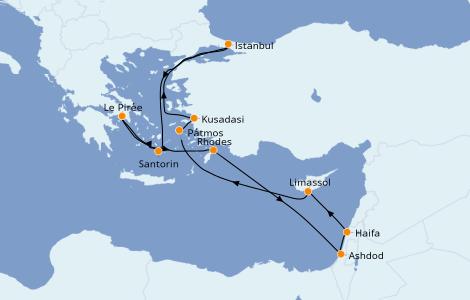 Itinéraire de la croisière Grèce & Adriatique 10 jours à bord du Norwegian Getaway