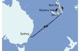 Itinerario de crucero Australia 2022 9 días a bordo del Serenade of the Seas