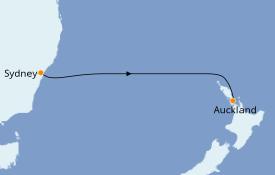 Itinéraire de la croisière Australie 2021 5 jours à bord du Pacific Princess