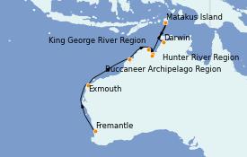 Itinerario de crucero Australia 2022 18 días a bordo del Silver Explorer