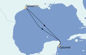 Itinerario de crucero Caribe del Oeste 5 días a bordo del Independence of the Seas