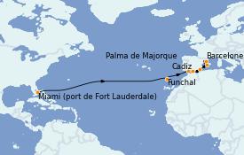 Itinéraire de la croisière Méditerranée 15 jours à bord du Regal Princess