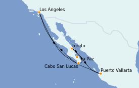 Itinéraire de la croisière Riviera Mexicaine 11 jours à bord du Crown Princess