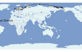 Itinéraire de la croisière Mer Baltique 25 jours à bord du Le Boréal