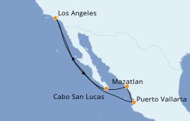 Itinéraire de la croisière Riviera Mexicaine 8 jours à bord du Royal Princess