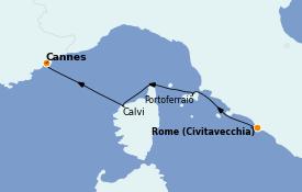 Itinéraire de la croisière Méditerranée 4 jours à bord du Royal Clipper