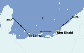 Itinéraire de la croisière Dubaï - Emirats 9 jours à bord du MSC Virtuosa
