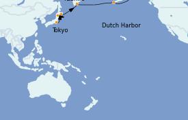 Itinéraire de la croisière Asie 15 jours à bord du Silver Whisper