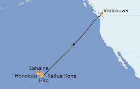 Itinéraire de la croisière Hawaii 9 jours à bord du Celebrity Eclipse