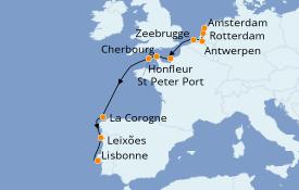 Itinéraire de la croisière Mer Baltique 12 jours à bord du Azamara Journey