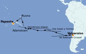 Itinéraire de la croisière Amérique du Sud 26 jours à bord du Silver Explorer