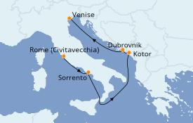 Itinéraire de la croisière Méditerranée 7 jours à bord du Azamara Journey
