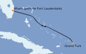 Itinéraire de la croisière Caraïbes de l'Est 5 jours à bord du Carnival Sunrise