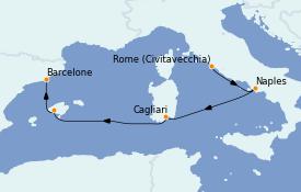 Itinerario de crucero Mediterráneo 5 días a bordo del Norwegian Epic