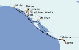 Itinerario de crucero Alaska 11 días a bordo del Norwegian Spirit