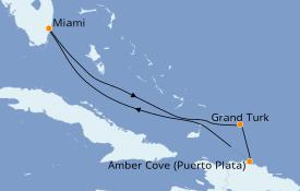 Itinéraire de la croisière Caraïbes de l'Est 6 jours à bord du Carnival Horizon