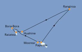 Itinéraire de la croisière Polynésie 11 jours à bord du Pacific Princess