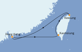 Itinéraire de la croisière Asie 5 jours à bord du Voyager of the Seas