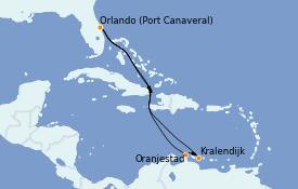Itinéraire de la croisière Caraïbes de l'Est 9 jours à bord du Mariner of the Seas