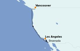 Itinéraire de la croisière Alaska 6 jours à bord du Norwegian Bliss
