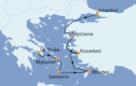 Itinéraire de la croisière Grèce & Adriatique 8 jours à bord du Seven Seas Voyager