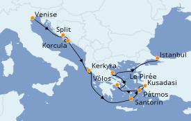 Itinéraire de la croisière Grèce & Adriatique 10 jours à bord du Norwegian Spirit