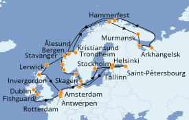 Itinéraire de la croisière Mer Baltique 35 jours à bord du Seven Seas Navigator