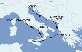 Itinerario de crucero Mediterráneo 8 días a bordo del Seven Seas Explorer