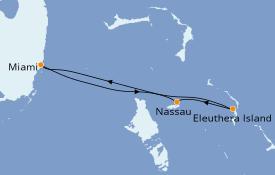 Itinéraire de la croisière Bahamas 5 jours à bord du Carnival Sensation