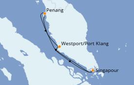 Itinéraire de la croisière Asie 5 jours à bord du Quantum of the Seas