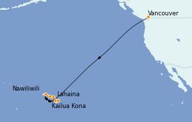 Itinéraire de la croisière Hawaii 12 jours à bord du Radiance of the Seas
