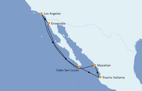 Itinéraire de la croisière Riviera Mexicaine 7 jours à bord du Norwegian Bliss