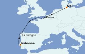 Itinéraire de la croisière Méditerranée 9 jours à bord du Costa Diadema