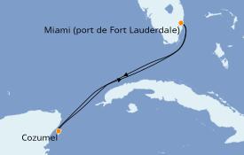Itinéraire de la croisière Caraïbes de l'Ouest 5 jours à bord du Oasis of the Seas