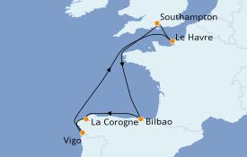 Itinéraire de la croisière Méditerranée 8 jours à bord du Anthem of the Seas