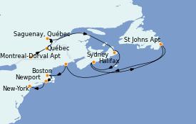 Itinerario de crucero Canadá 11 días a bordo del MS Insignia