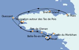 Itinerario de crucero Atlántico 8 días a bordo del Le Champlain