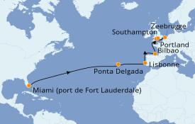 Itinéraire de la croisière Méditerranée 16 jours à bord du Regal Princess