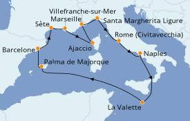 Itinéraire de la croisière Méditerranée 13 jours à bord du Celebrity Apex