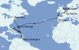 Itinéraire de la croisière Mer Baltique 16 jours à bord du MS Insignia