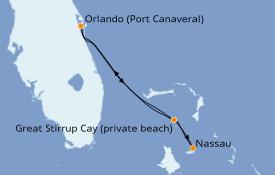 Itinéraire de la croisière Bahamas 5 jours à bord du Norwegian Breakaway