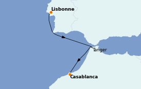 Itinéraire de la croisière Îles Canaries 8 jours à bord du MS World Explorer