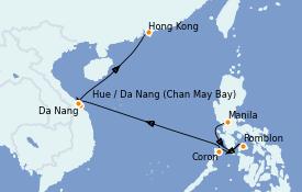 Itinéraire de la croisière Asie 10 jours à bord du Silver Moon
